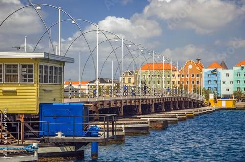 Photo  Queen Emma Bridge Willemstad, Curacao