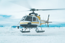 Helicopter Take-Off - Antarctica