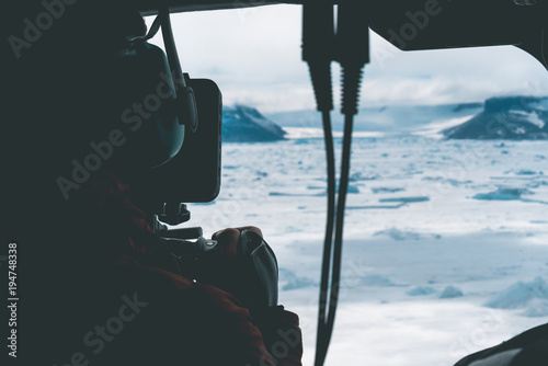 Filmmaker filming the Landscape - Antarctica