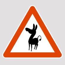 Donkey Black Silhouette Road S...