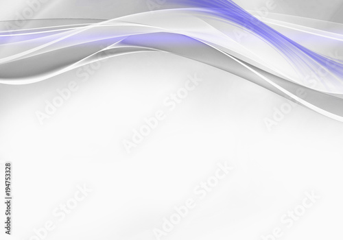 Poster Abstract wave Elegant white and blue abstract background design with space for your text