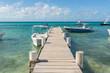 Smal dock in Gran Roque island, in Los Roques Archipelago, in the Caribbean Sea, in Venezuela