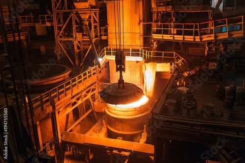 Fotomural Melting of metal in a steel plant