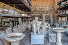 Old Ruins In Pompeii Italy