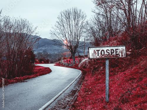 Photo  Entrada al pueblo. Tospe - Asturias