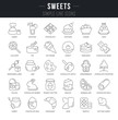 Set Vector Line Icons of Sweets.