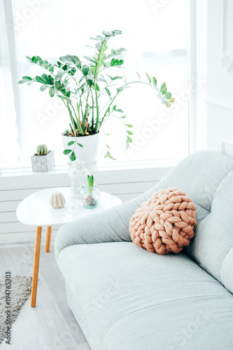 Part of modern casual living room decor - Buy this stock photo and ...
