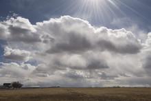 Clouds & Sun In San Luis Valley;   Colorado