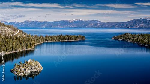 Fotografie, Obraz  Lake Tahoe West shore view including Fannette Island in the winter of 2018