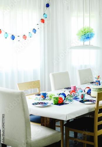 Fotografía  Multi-coloured kids birthday party Rainbow themed