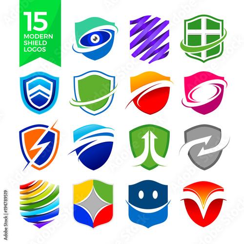 Fototapeta 15 Modern Shield Logos Design