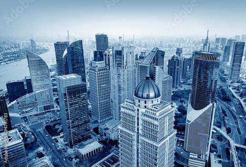 Keuken foto achterwand New York Skyscraper in Shanghai, China