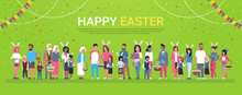 Happy Easter Holiday Poster Wi...