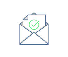 Email Sent Or Received Icon Co...