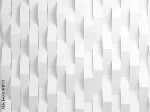 Vertical corners of stripes over wall. 3d - 194801131