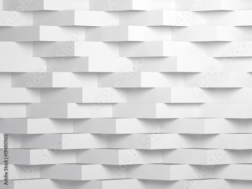 Abstract white digital background 3d art - 194801165