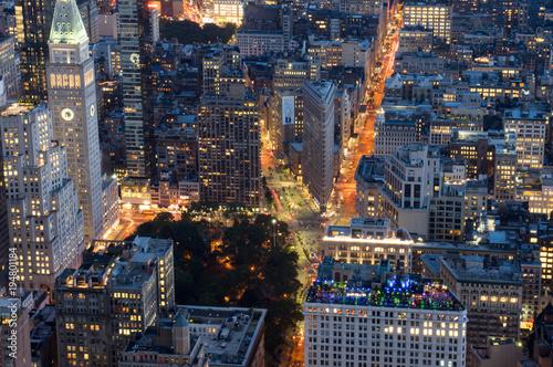 Night in New York City Poster