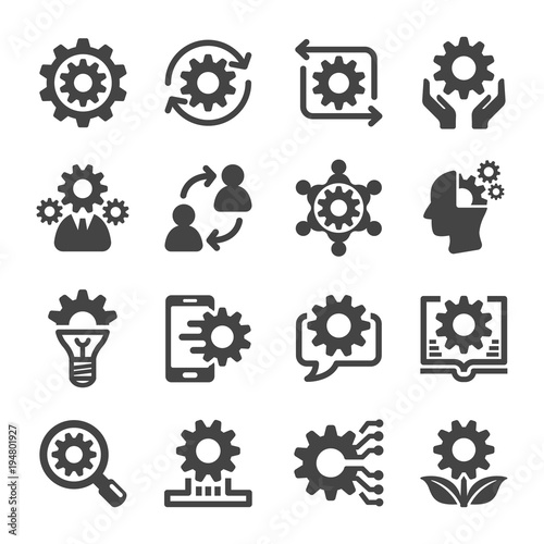 Fotografie, Obraz  knowledge icon set