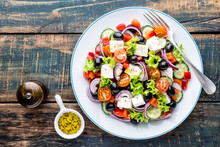 Greek Salad Of Fresh Cucumber,...