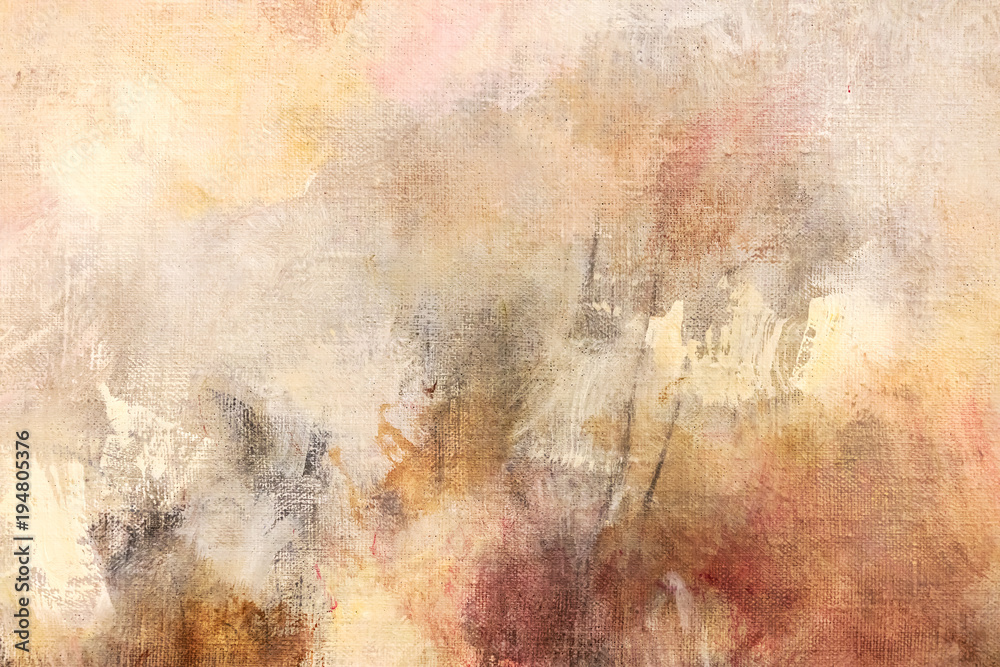 Fototapety, obrazy: artists oil painted canvas closeup abstract background