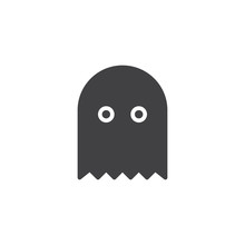 Ghost Game Vector Icon. Filled...