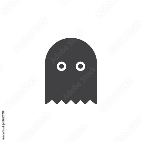 Fotografie, Obraz  Ghost game vector icon