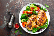 Grilled Chicken Breast. Fried ...