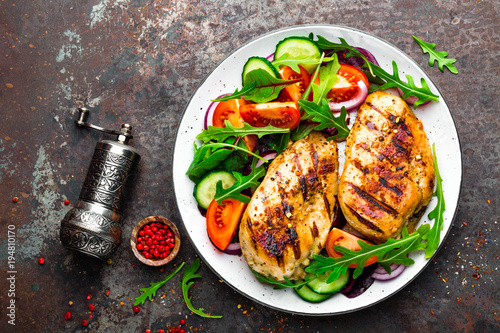 Fotografia Grilled chicken breast