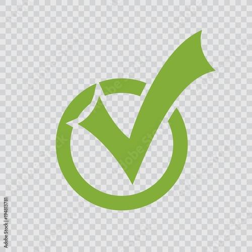 Fotografie, Obraz  green checkmark icon.
