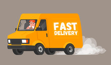 Fast Delivery. The Driver On T...