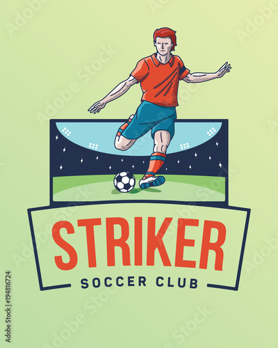 Photo The goal striker