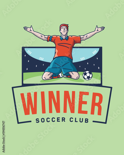 Photo The soccer winner