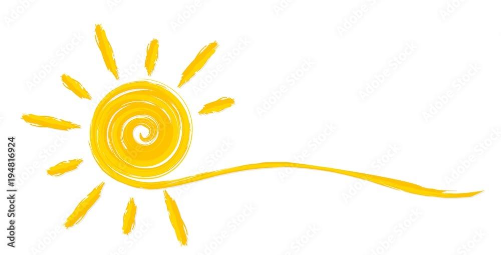 Fototapety, obrazy: Summer bright sun.