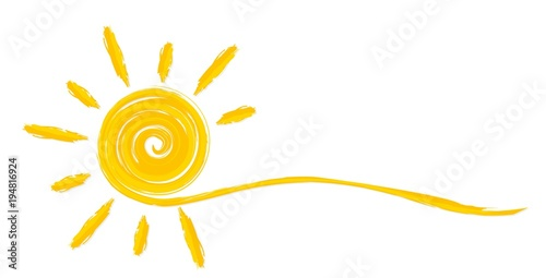 фотография  Summer bright sun.