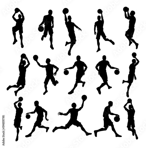 Photo  Basketball Player Silhouettes