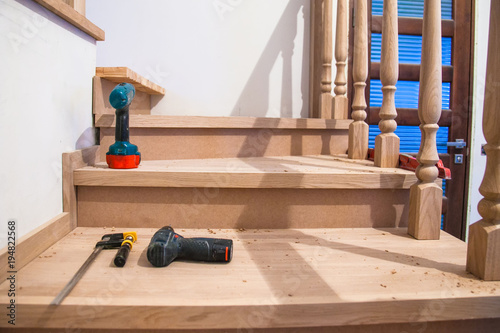 Manufacturing Repair Of Wooden Stairs In A Residential Building