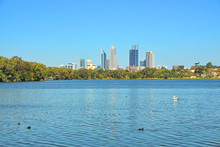 The City Of Perth Across The Lake