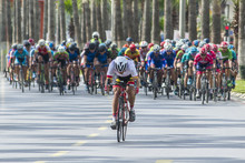 Competition Cycling Race On Th...