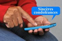 Sincères Condoléances Envoyées Par SMS Avec Un Smartphone
