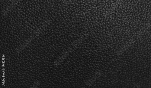 Fotografie, Obraz  Texture of black leather.