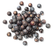 Dried Juniper Berries Isolated...