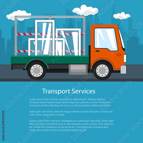 Flyer of Lorry, Small Truck Transports Windows