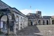 forteresse à Saint-Kitts-et-Nevis et panorama sur la mer des caraïbes