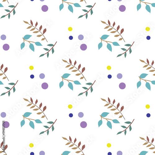 wzor-w-kolorowe-galazki-i-kropki
