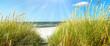 Leinwanddruck Bild Ostsee - Dünen und Meer