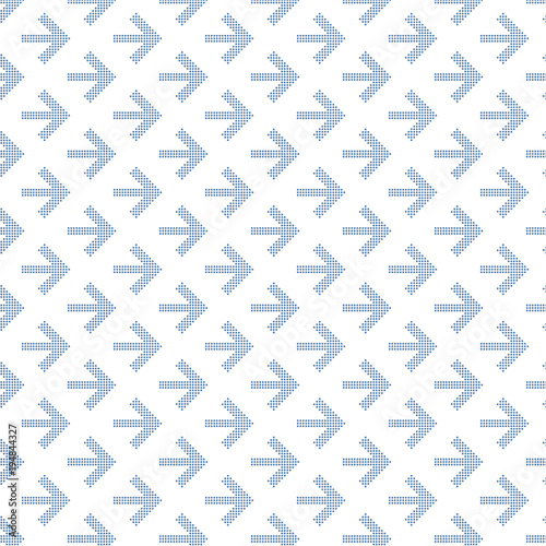 Dotted Arrow pattern for your design. Seamless vector Wall mural