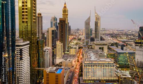 City on the water Dubai rush hour