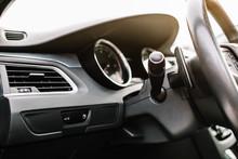 Modern Car Interior Background.