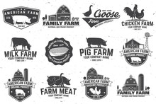 American Farm Badge Or Label. ...