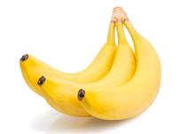 Group Yellow Banana Bunch Isol...